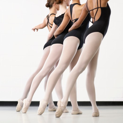 Four Ballerinas in a Line