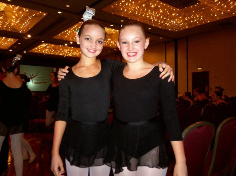 Olivia (left) and Martha (right) at after their Ballet Forum performance at CNADM (photo: M. Dunkelberger)
